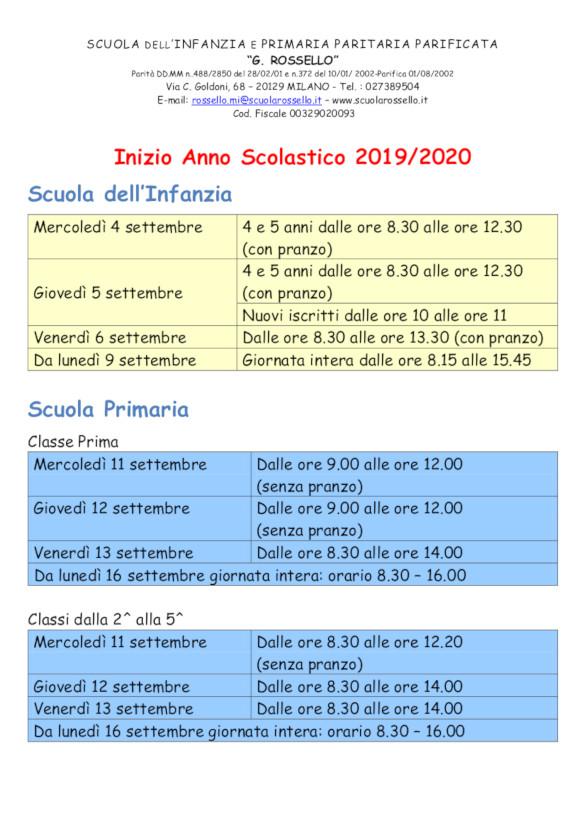 Calendario Scuola Infanzia.Scuola Primaria E Dell Infanzia G Rossello